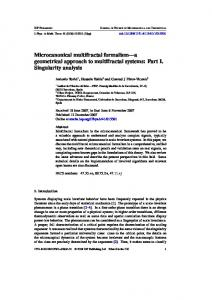Microcanonical multifractal formalism: Part I ... - Semantic Scholar