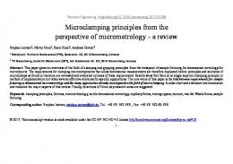 Microclamping principles from the perspective of ...