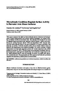 Microclimatic Conditions Regulate Surface Activity in ... - Springer Link