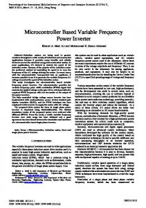Microcontroller Based Variable Frequency Power Inverter - IAENG