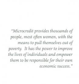 Microcredit provides thousands of people, most often