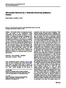 Microcystin Removal by a Naturally-Occurring ... - Semantic Scholar
