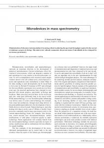 Microdevices in mass spectrometry
