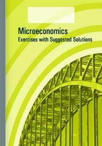Microeconomics - Exercises - with Suggested Solutions