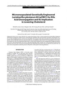 Microencapsulated Genetically Engineered ... - BioMedSearch