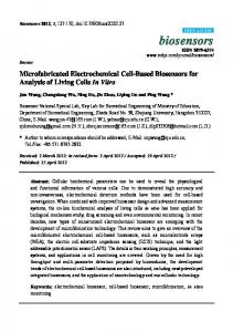 Microfabricated Electrochemical Cell-Based Biosensors for ... - MDPI