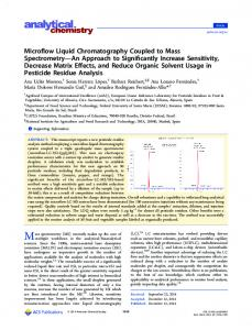 Microflow Liquid Chromatography Coupled to ... - ACS Publications