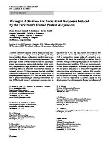 Microglial Activation and Antioxidant Responses ... - Springer Link