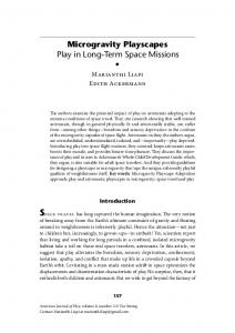 Microgravity Playscapes Play in Long-Term Space Missions s - ERIC