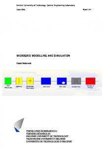 MICROGRID MODELLING AND SIMULATION