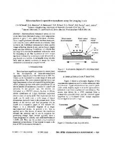 Micromachined capacitive transducer array for ...