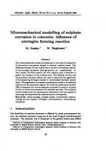 Micromechanical modelling of sulphate corrosion in ... - CiteSeerX