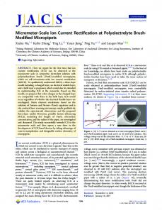 Micrometer-Scale Ion Current Rectification at ... - ACS Publications