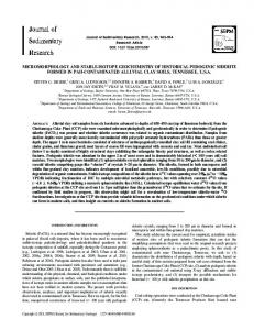 micromorphology and stable-isotope geochemistry ... - Semantic Scholar