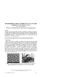 Microneedle Array Interface to CE on Chip