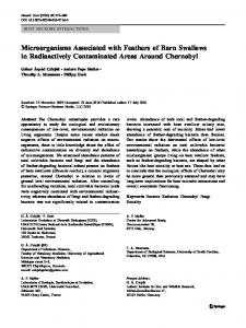 Microorganisms Associated with Feathers of Barn Swallows in ...