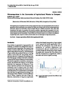 Microorganisms in the Conversion of Agricultural ...