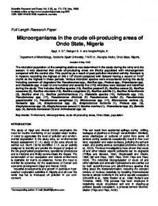 Microorganisms in the crude oil-producing areas ... - Academic Journals