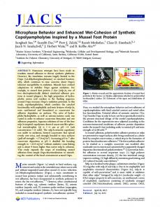 Microphase Behavior and Enhanced Wet ... - ACS Publications