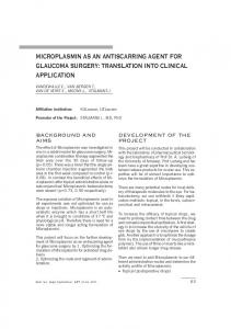 microplasmin as an antiscarring agent for glaucoma surgery