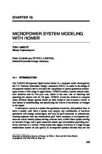 Micropower System Modeling with HOMER - HOMER Energy