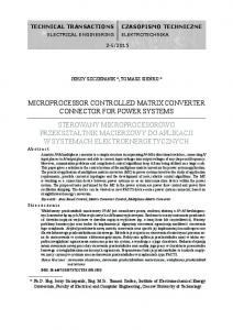 Microprocessor controlled matrix converter connector for power systems