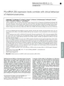 MicroRNA-206 expression levels correlate with ... - BioMedSearch