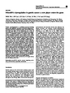 MicroRNA dysregulation in gastric cancer: a new ...