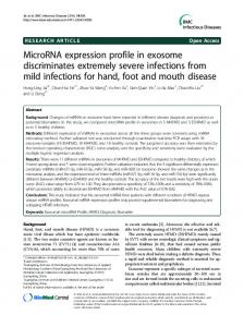 MicroRNA expression profile in exosome discriminates extremely ...