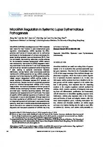 MicroRNA Regulation in Systemic Lupus