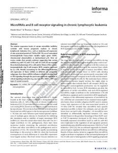 MicroRNAs and B cell receptor signaling in chronic