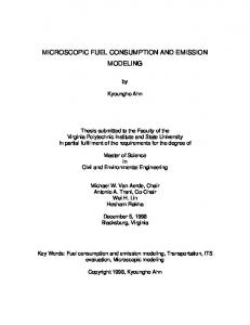 microscopic fuel consumption and emission modeling - VTechWorks