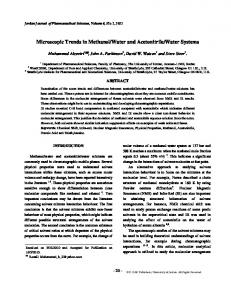 Microscopic Trends in Methanol/Water and Acetonitrile/Water Systems