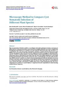 Microscopy Method to Compare Cyst Nematode Infection of Different ...