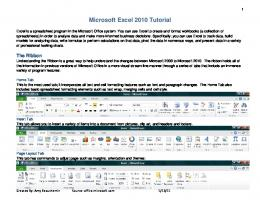 Microsoft Excel 2010 Tutorial - Goodwin College