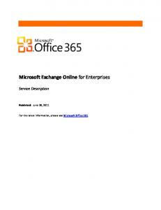 Microsoft Exchange Online for Enterprises - Office 365