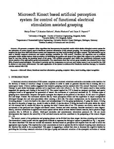 Microsoft Kinect based artificial perception system for control of ...