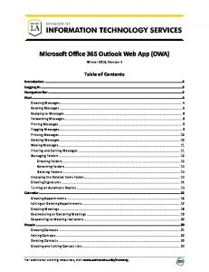 Microsoft Office 365 Outlook Web App (OWA)