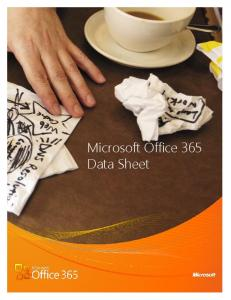Microsoft Office 365 Product Guide