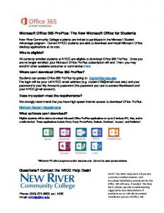 Microsoft Office 365 ProPlus: The New Microsoft Office for Students ...