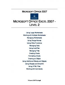 MICROSOFT OFFICE EXCEL 2007 - LEVEL 2