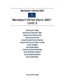 MICROSOFT OFFICE EXCEL 2007 - LEVEL 3