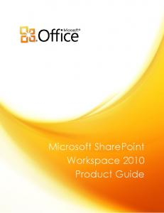 Microsoft SharePoint Workspace 2010 Product Guide.pdf