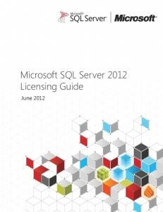 Microsoft SQL Server 2012 Licensing Guide - CDW