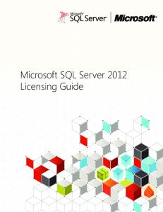 Microsoft SQL Server 2012 Licensing Guide