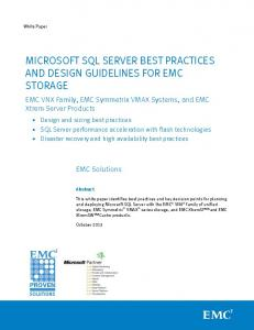 Microsoft SQL Server Best Practices and Design Guidelines for EMC ...