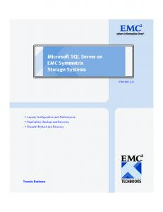 Microsoft SQL Server on EMC Symmetrix Storage Systems