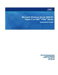 Microsoft Windows Server 2008 R2 Hyper-V on EMC ... - EMC.com
