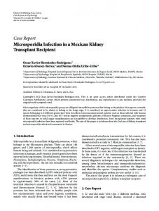 Microsporidia Infection in a Mexican Kidney Transplant Recipient