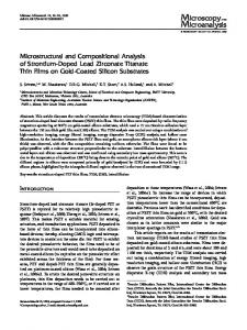 Microstructural and Compositional Analysis of Strontium-Doped Lead